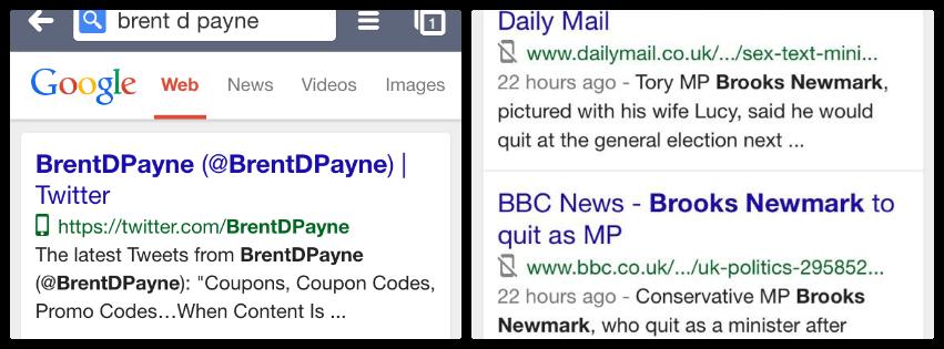 mobile usability google search icon