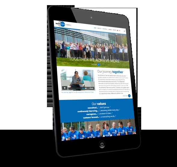 Mundipharma website design