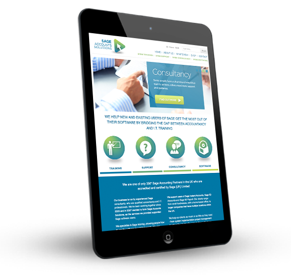 Sage Accounts Solutions on a tablet device