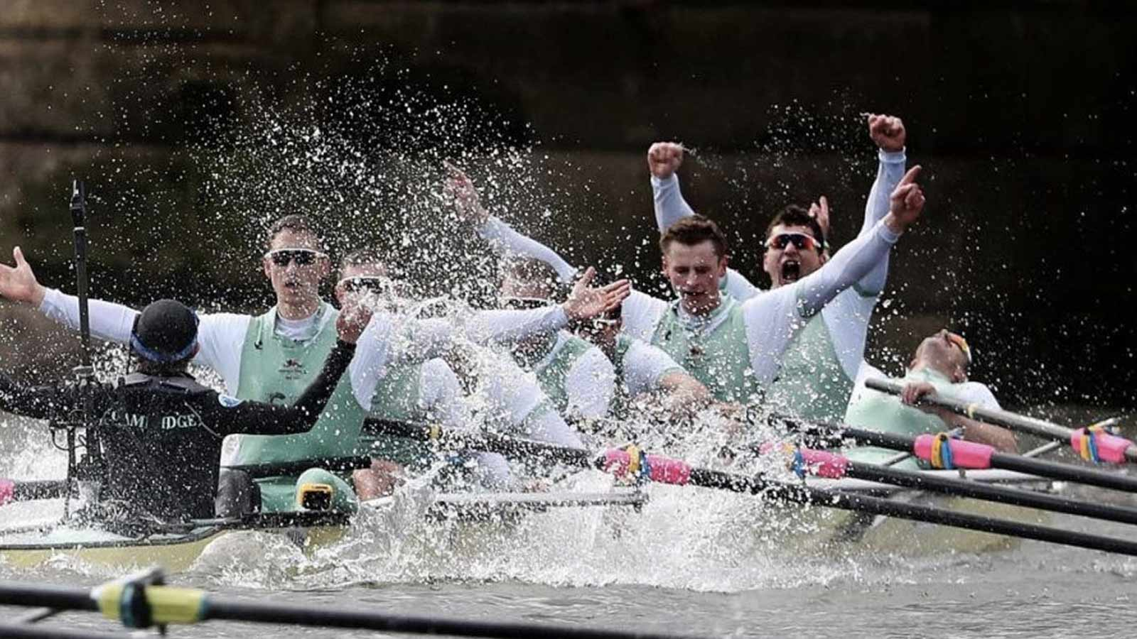 Winning Cambridge rowing crew