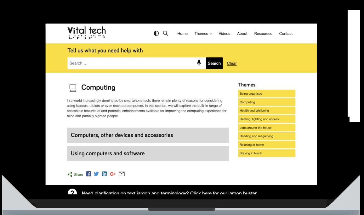 Vitaltech - an accessible website