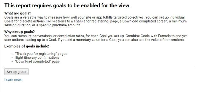 GA without goal tracking