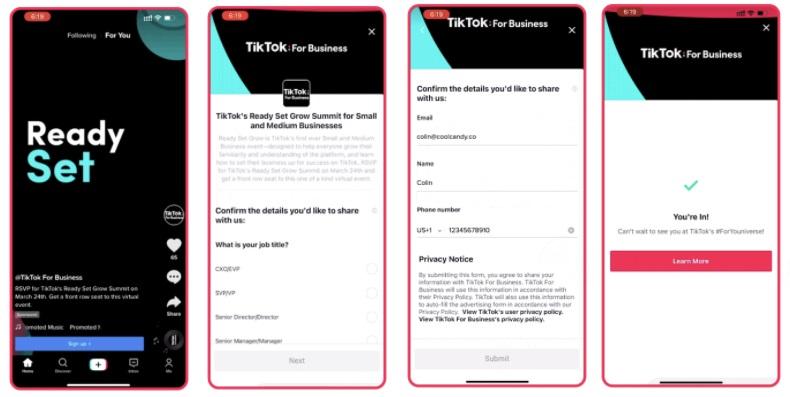 TikTok lead generation ads
