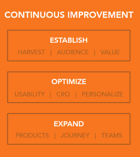 Website continuous improvement stages